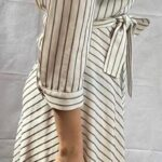 black and white striped dress side